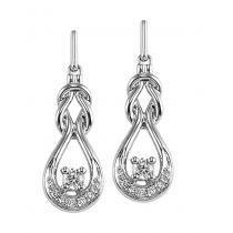 Diamond Earrings in 14K White Gold / FE4049