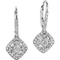 1/2 ctw Diamond Earrings in 14K White Gold /FE4057