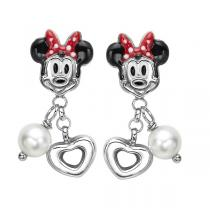 Disney Silver Minnie Mouse Earrings / FE4101