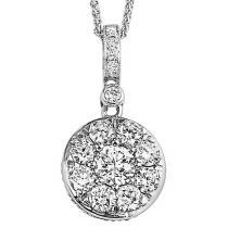 Gold Diamond Pendant 1/4ctw/FP1070BW