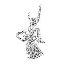 Silver Diamond Pendant / FP1132