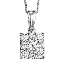 Gold Diamond Pendant 1/2ctw/FP1158AW
