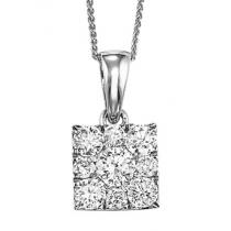 Gold Diamond Pendant 1ctw/FP1159AW