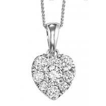 Gold Diamond Pendant 1/4 ctw / FP1205AW