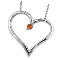 Silver & Brown Diamond Heart/FP1179