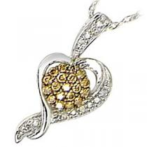 1/7 ctw Brown and White diamond Pendant. / FP1193