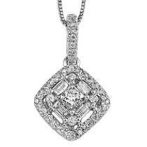 Gold Diamond Pendant/FP4057