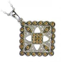 1/3 ctw Brown and White diamond Pendant. / FP4089