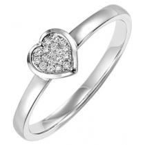 Silver  Diamond Ring :  FR1353
