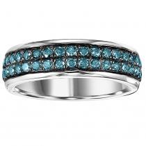 Silver Blue Diamond Band 1 ctw/FR1366