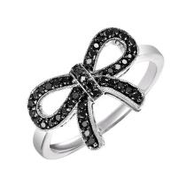 Silver BlACK Diamond Ring 1/4 ctw :  FR1388