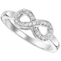 White Gold  Diamond Infinity Ring 1/3 ctw :  FR1391