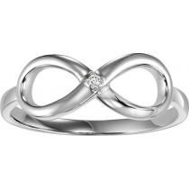 Silver Diamond Infinity Ring/FR1408