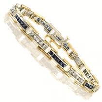 14K Gold Diamond & Sapphire Bracelet/ GTN446NSC