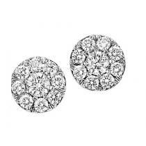 1 ctw Diamond Earrings in 14K White Gold / HDER083BW