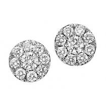 1/2 ctw Diamond Earrings in 14K White Gold /HDER085BW