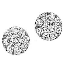 1/4 ctw Diamond Earrings in 14K White Gold /HDER088BW