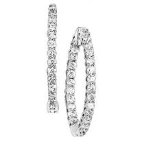 2 ctw Diamond Earrings in 14K White Gold /HDER093BW