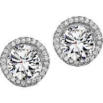 Diamond Earring Jackets in 14K White Gold /HDER110