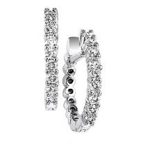 1/2 ctw Diamond Earrings in 14K White Gold /HDER120