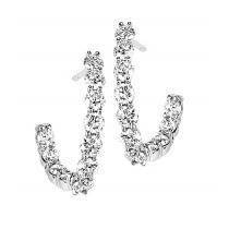1 ctw Diamond Earrings in 14K White Gold /HDER121