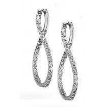 1 ctw Diamond Earrings in 14K White Gold /HDER123