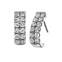 1 ctw Ideal Cut Diamond Earrings in 14K White Gold /HDER125ID