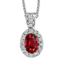 Ruby Pendant set in 14K Gold