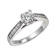 1/5 ctw Diamond Engagement Ring in 14K White Gold  /HDR1344