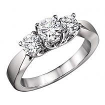 2 ctw Three Stone Diamond Ring in 14K White Gold/HDR1365LW