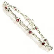 14K Ruby and Diamond Bracelet:/ ISB948WRC
