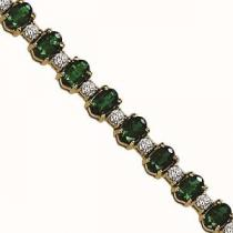 14K White Gold Diamond & Emerald Bracelet  / JB2417WEC6