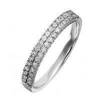 1/2 ctw Diamond Ring in 14K White Gold/LRD0262