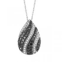 1/2 ctw Black and White diamond Pendant. / NP649