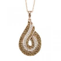 3/4 ctw Brown and White diamond Pendant. / NP652