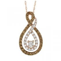 1/2 ctw Brown and White diamond Pendant. / NP656