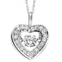 Rhythm of Love Pendant in 14K WG - 1/3 ctw / ROL1009