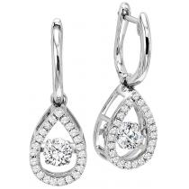 Rhythm of Love Earrings in 14K WG - 3/4 ctw / ROL1015