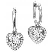 Rhythm of Love Earrings in 14K WG - 3/4 ctw / ROL1016