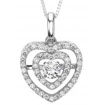 Rhythm of Love Pendant in 14K WG - 3/8 ctw / ROL1018