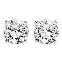 1/2 ctw Diamond Solitaire Earrings in 14K White Gold / SE6050MW