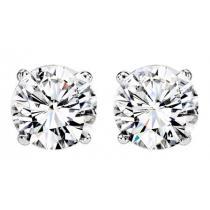 1 1/2 ctw Diamond Solitaire Earrings in 14K White Gold / SE7140LW