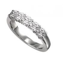 1/4 ctw Five Stone Diamond Ring in 14K White Gold/ SS5075W