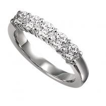 3/4 ctw Five Stone Diamond Ring in 14K White Gold/SS5078W