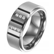 Men's 1/7 ctw Diamond Ring in Titanium/TI1037
