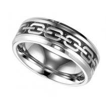 Men's Ring in Stainless Steel and Carbon Fiber/TS1046
