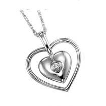 Silver Diamond Pendant / UP1013BX