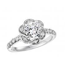 14K White Gold Diamond Semi Mount  ring 3/8 ctw : WB5803E- Semi