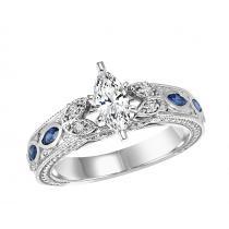 14K White Gold 1/2 gtw Diamond Ring/WB5813E