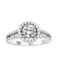 14K White Gold Diamond Semi Mount  ring 1/2 ctw : WB5871E- Semi
